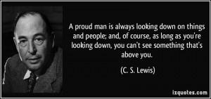 C.S. Lewis quote on pride