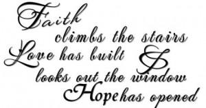 Faith Climbs Stairs