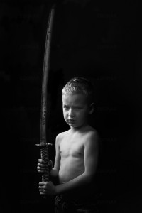 Little boy with sword