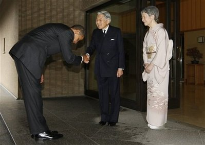 Obama Meets Japanese Emperor