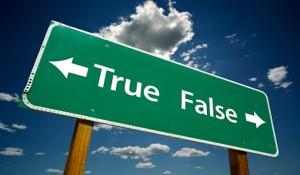 True, False Road Sign